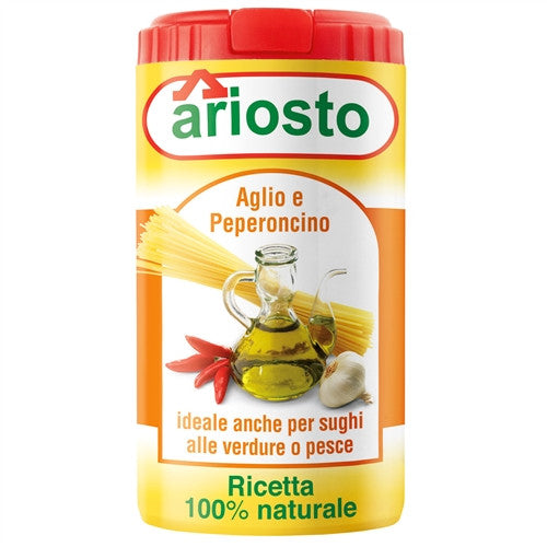 ITALIAN ARIOSTO GARLIC AND CHILI SEASONING, 2.1OZ (60GM), PACK OF 6