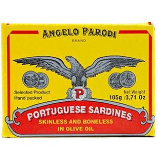 Angelo Parodi Sardines in Olive Oil 4.25oz tin