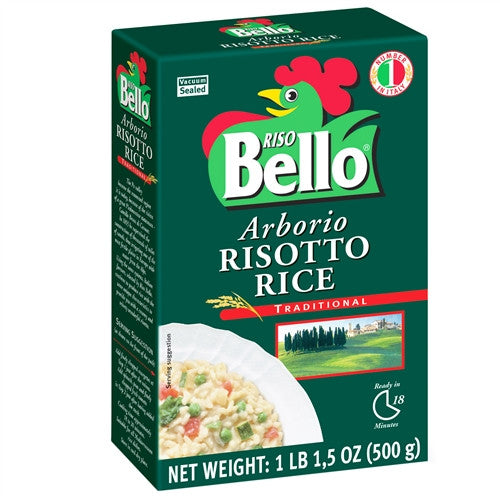 ITALIAN RISO BELLO ARBORIO RISOTTO RICE, 17.5OZ (500GM), PACK OF 12
