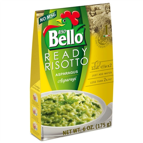 ITALIAN RISO BELLO ASPARAGUS READY RISOTTO, 6.2OZ (175GM), PACK OF 6