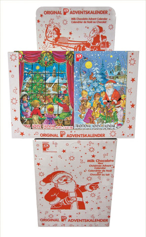 PeA Display Chocolate filled Advent Calendar 60/1.76oz
