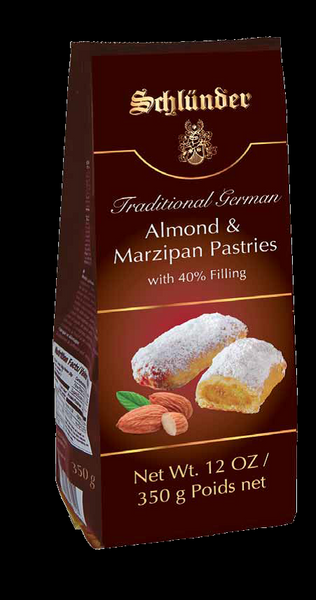 Schluender, Stollen Pieces w/40% Almonds Marzipan filling in bags 15/12oz NEW