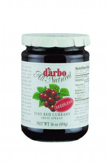 D'Arbo Preserves Red Currant Seedless 16oz