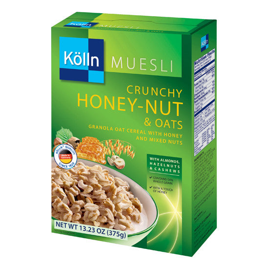Koelln (Kölln) Honey Nut & Oats Muesli 13.23oz.