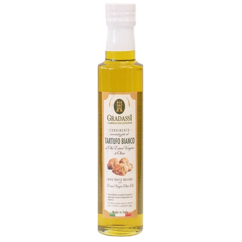 ITALIAN GRADASSI WHITE TRUFFLE EXTRA VIRGIN OLIVE OIL, 8.5OZ (250ML), PACK OF 6