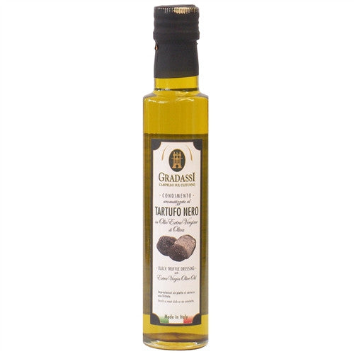 ITALIAN GRADASSI BLACK TRUFFLE EXTRA VIRGIN OLIVE OIL, 8.5OZ (250ML), PACK OF 6