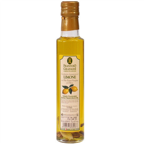 ITALIAN GRADASSI LEMON INFUSED EXTRA VIRGIN OLIVE OIL, 8.5OZ (250ML), PACK OF 6
