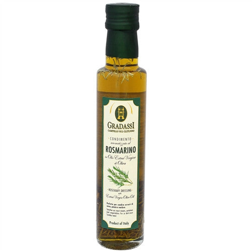 ITALIAN GRADASSI ROSEMARY INFUSED EXTRA VIRGIN OLIVE OIL, 8.5OZ (250ML), PACK OF 6