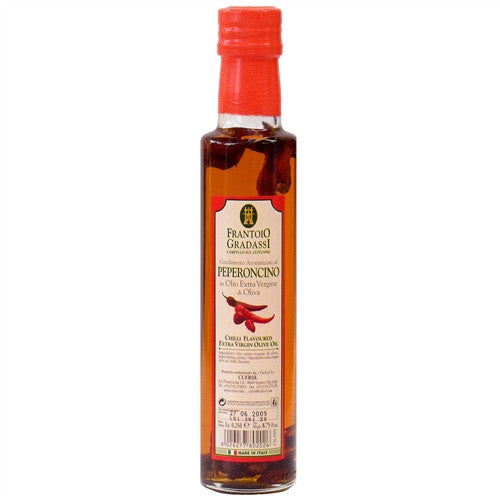 ITALIAN GRADASSI PEPPER INFUSED EXTRA VIRGIN OLIVE OIL, 8.5OZ (250ML), PACK OF 6