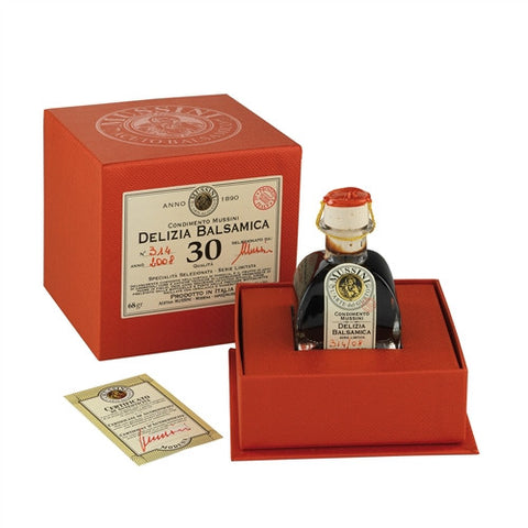 "ITALIAN MUSSINI ""DELIZIA"" 30 YEAR BALSAMIC VINEGAR, 2.4OZ (71ML)"