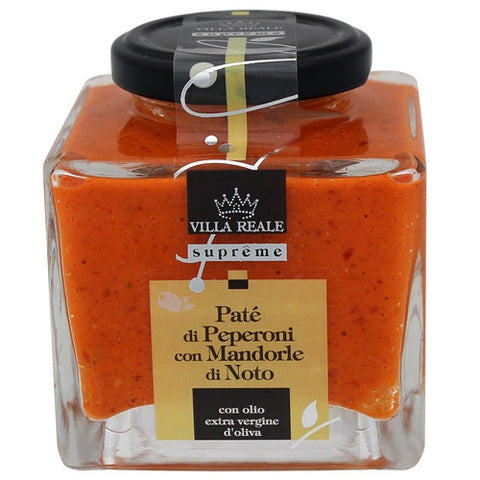 ITALIAN VILLA REALE RED PEPPER & ALMONDS PATE, 6.35OZ (180GM), PACK OF 6