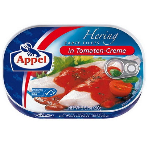 Appel Herring Fillets in Tomaten-Creme 10/7oz.