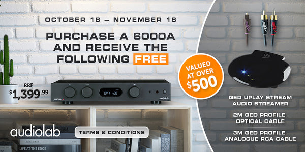 Purchase Audiolab 6000A and get free equipment
