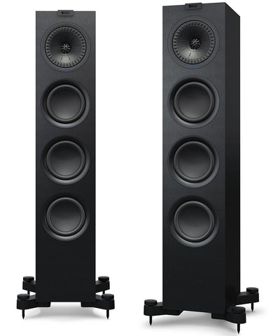 Black KEF Q550 Floorstanding Speakers KEF - Brisbane HiFi