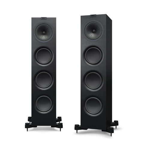 Black KEF Q750 Floorstanding Speakers KEF - Brisbane HiFi