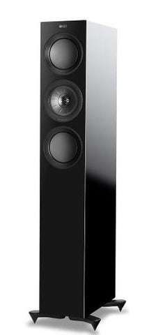Black KEF R5 Floorstanding Speakers KEF - Brisbane HiFi