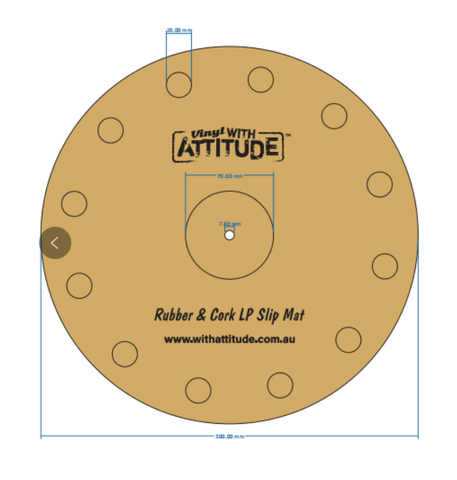 Rubber & Cork LP Slip Mat With Attitude - Brisbane HiFi