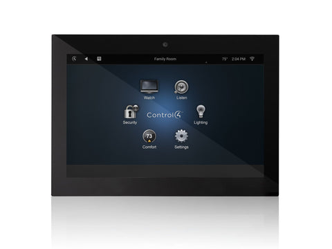 Black T3 In-Wall 7-Inch Touchscreen Control4 - Brisbane HiFi