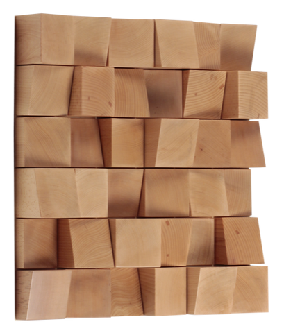 36 (595x595x75) / Light Brown Vicoustic Multifuser Wood Diffuser Vicoustic - Brisbane HiFi