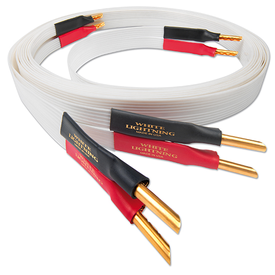 Banana / 1m White Lightning Speaker Cable Nordost - Brisbane HiFi