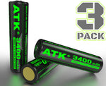 3pc | 18650 | 3.7V | 3400mAh | Hight Output | Protected | Lithium Rechargeable Battery