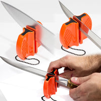 Pocket Hunting Knife Sharpener: Tungsten Carbide Ceramic Rod - For Camping and Outdoors