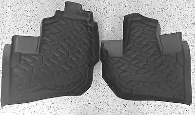 Kawasaki Teryx Formed Rubber Front Floor mats Liners Laser Fit 2014 2016 (1-501)