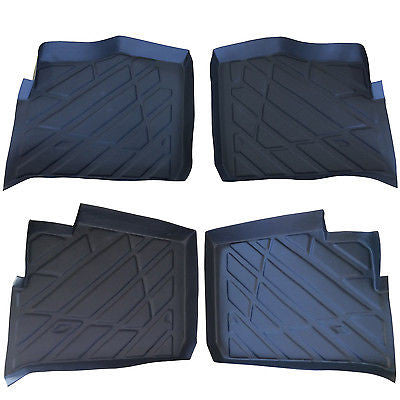 4 piece Set Polaris Ranger floor mats Liners rubber 2013 2014 2015 900 XP Crew