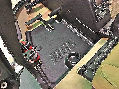NEW Rubber Robinson R66 Helicopter floor mats trays pans part with cup holders