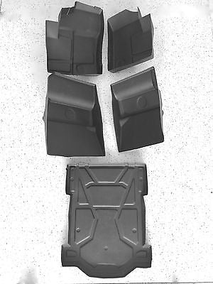 2014-2016 Polaris RZR XP 4 1000 Floor Mats liners Front Rear & Bedliner 5PC KIT