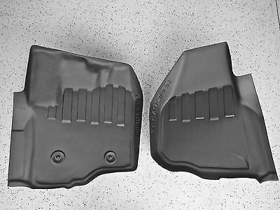 NEW Ford F250 F350 formed Weather Floor Mats TreadLiner tech, Front 2011-2014