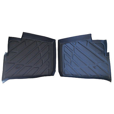 REAR SET Polaris Ranger XP 900 Crew floor mats Liners rubber 2013-2015