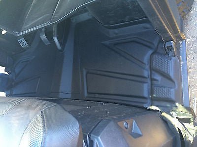 2015 Polaris Ranger 570 Mid Size Front rubber floor mats, Liners, one piece