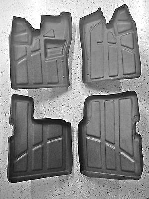 4pc KIT Polaris RZR 4 Rubber floor mats liners, Front & Back 800, 900  2010-2014