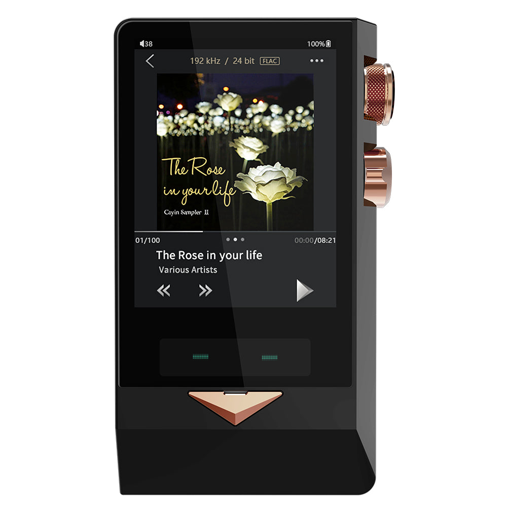 Cayin N8 Brass Black Flagship Digital Music Player with Full Balanced Solid State and Triode Vacuum Tube Output
