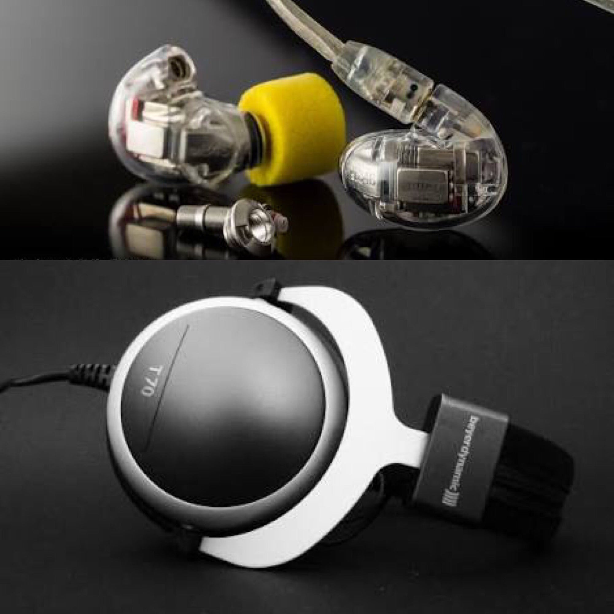 [JABEN COMBO] Shure SE846 Quad Driver In-ear Monitor + Beyerdynamic T70 Headphone