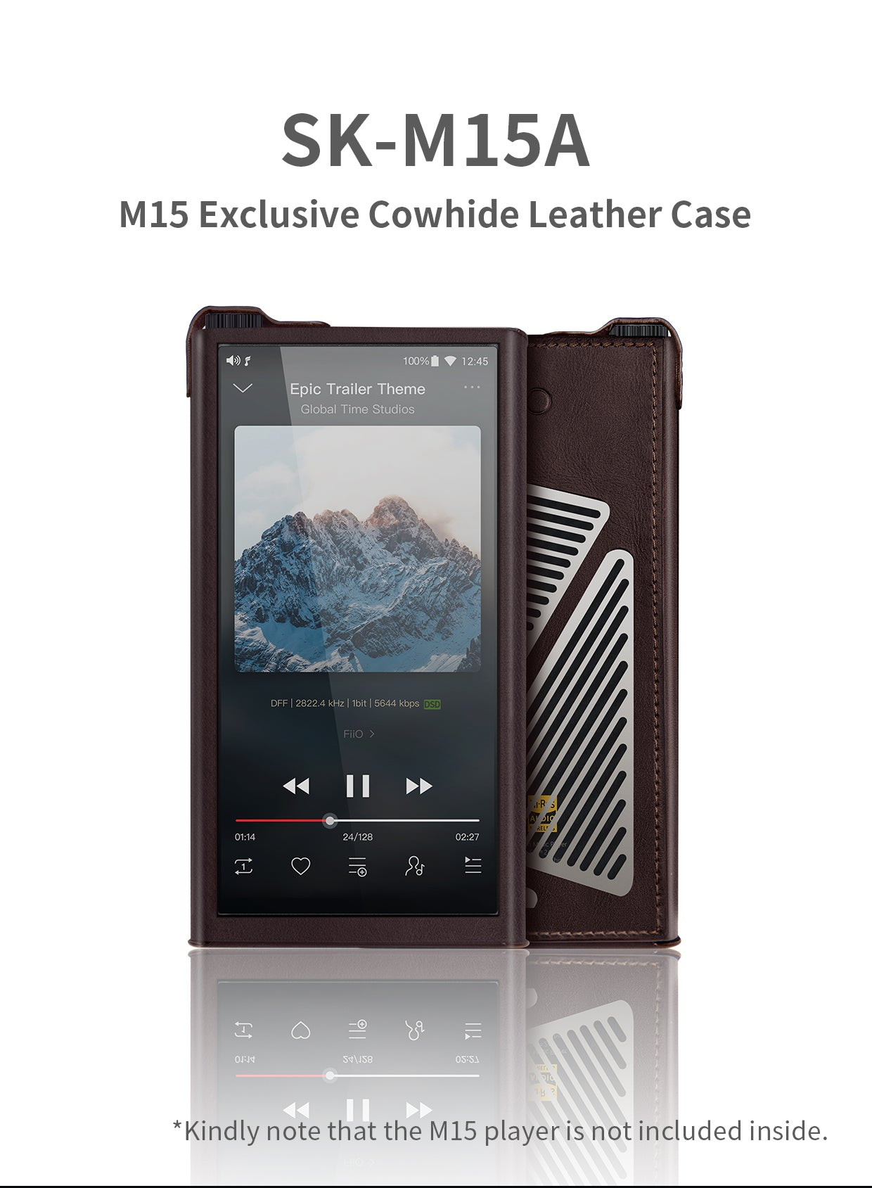 Leather case for Fiio M15