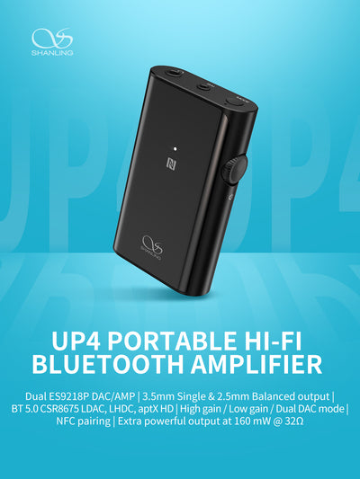 [In-Stock] Shanling UP4 Hifi Bluetooth Amplifier