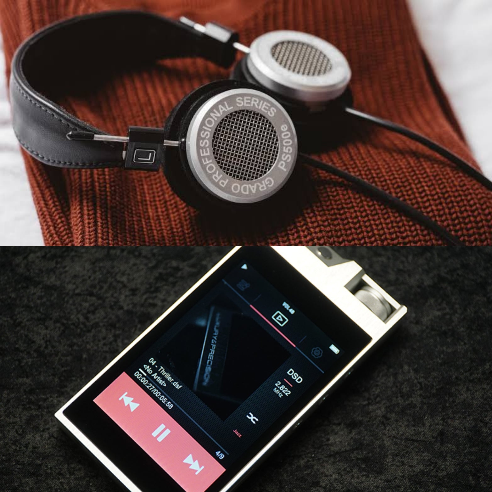 [COMBO] Grado PS500e Professional Series + Luxury & Precision L3 Digital Audio Player