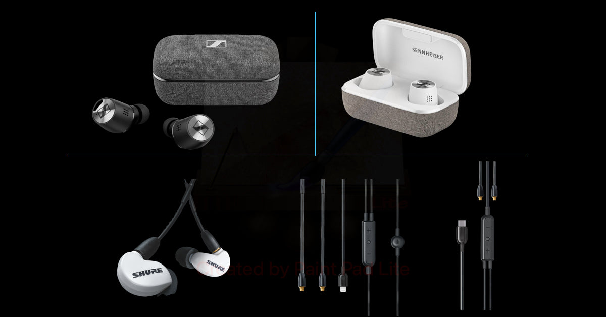 [Jaben Combo] Sennheiser Momentum True Wireless 2 & Shure SE215 White & Shure RMCE-LTG/Type-C Cable