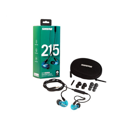 SHURE SE215 SPE BLUE - Universal (Remote + Mic for Apple & Android)