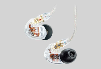 Shure SE535 Sound Isolating™ Earphone Clear/Limited Edition Red