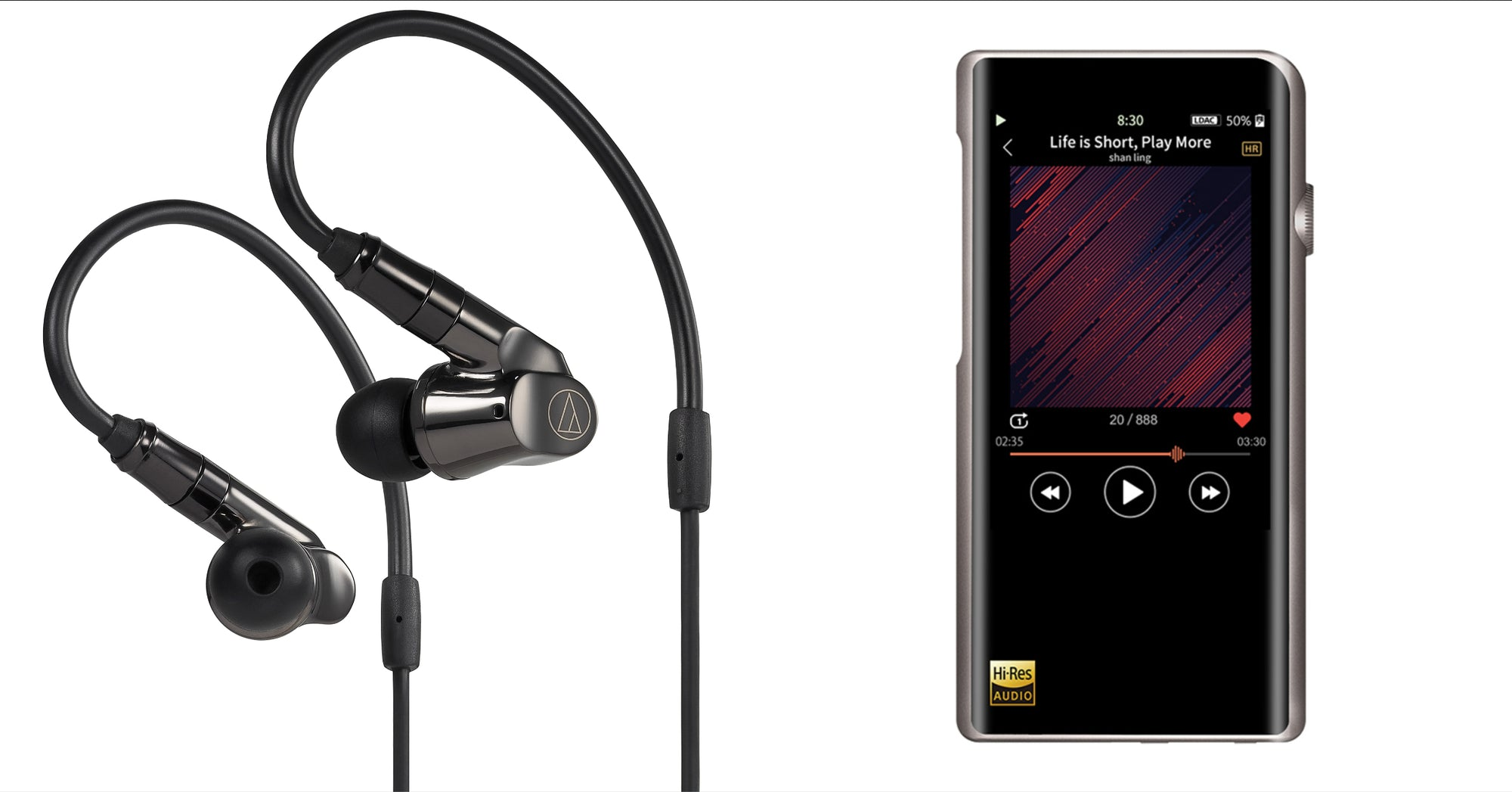 [JABEN COMBO] Audio Technica ATH-IEX1 In-Ear Headphone and Shanling M5s Digital Audio Player