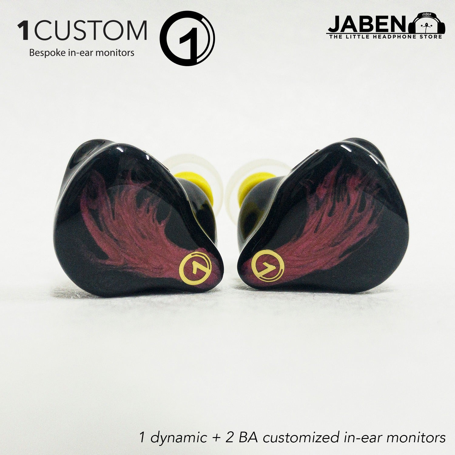 1Custom Model 1+2 Hybrid Custom In-Ear Monitor