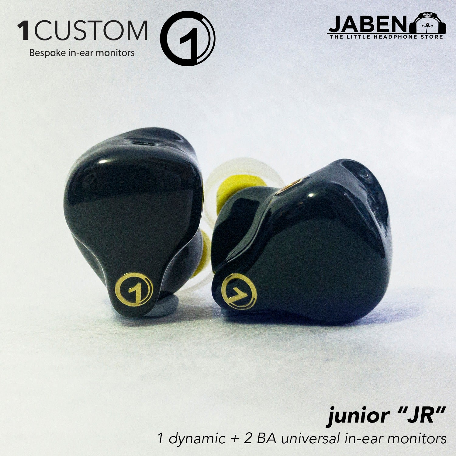 1Custom Junior Triple Driver Hybrid ( 1DD + 2BA) Universal In-Ear Monitor