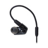 Audio-Technica ATH-LS300iS In-Ear Triple Armature Driver Headphones with In-line Mic & Control