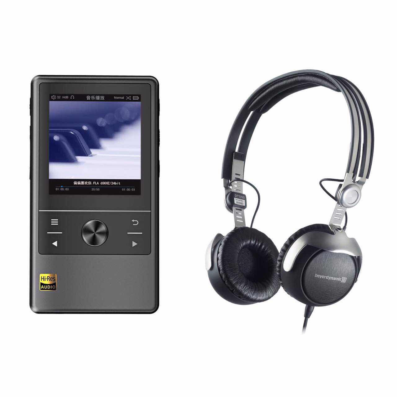 Cayin N3 Digital Audio Player + Beyerdynamic DT1350 Tesla Portable Headphones