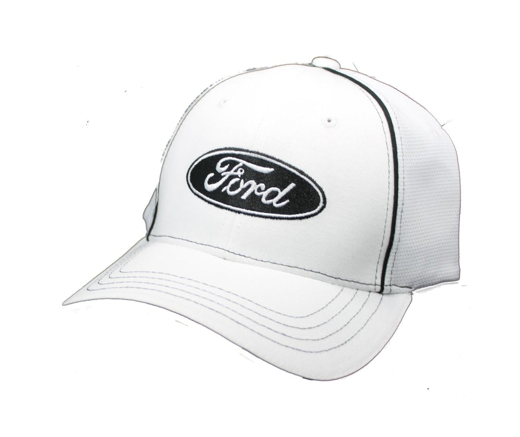 Ford Flex fit hat with ford logo in white