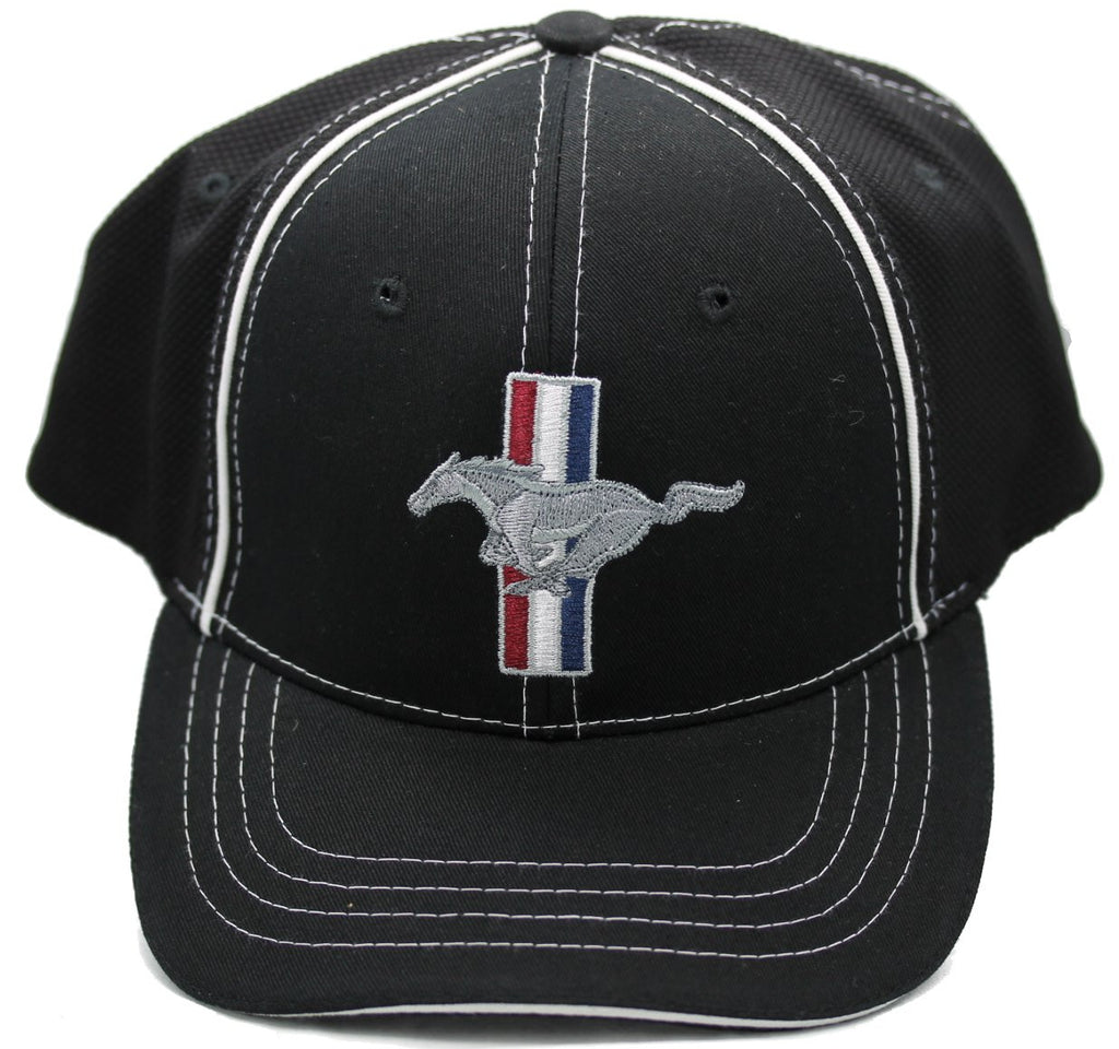 Ford mustang flex fit hat in black the mustang trailer