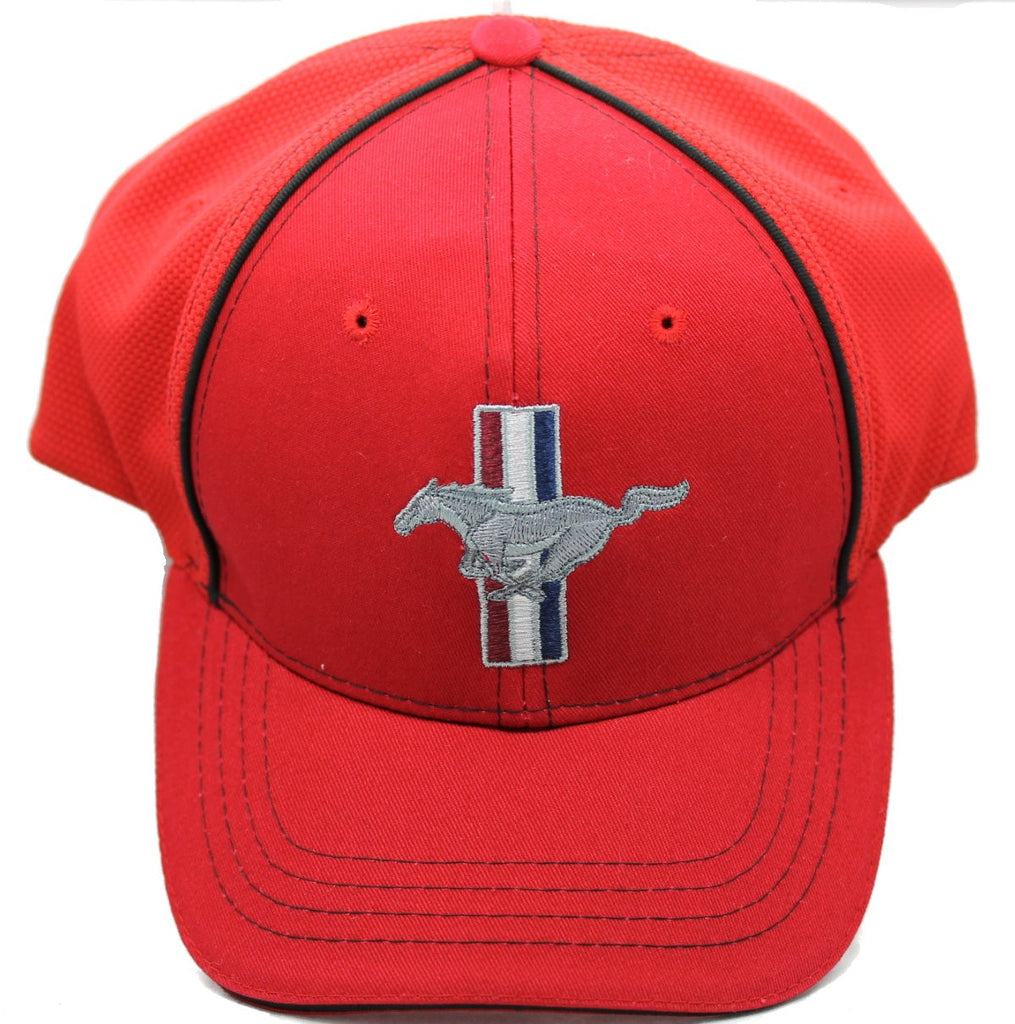 Ford Mustang flex fit hat in red